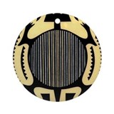 MIMBRES STRIPED TORTOISE BOWL DESIGN Ornament (Rou