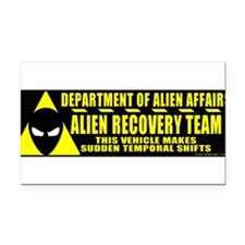 Funny Area 51 Rectangle Car Magnet