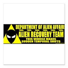 "Funny Area 51 Square Car Magnet 3"" x 3"""