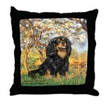 Spring & Cavalier (BT) Throw Pillow