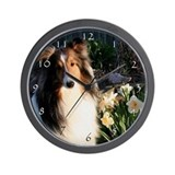 Sheltie Spring Wall Clock