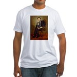 Lincoln & his Cavalier (BT) Fitted T-Shirt
