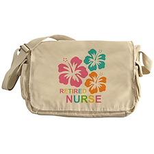 Hibiscus Retired Nurse Messenger Bag
