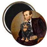 Lincoln & his Cavalier (BT) Magnet