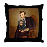 Lincoln & his Cavalier (BT) Throw Pillow