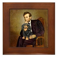 Lincoln & his Cavalier (BT) Framed Tile