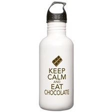 Keep Calm and Eat chocolate Water Bottle