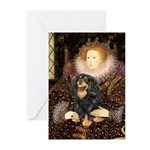 Queen & Cavalier (BT) Greeting Cards (Pk of 10)
