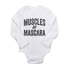 Muscles and Mascara Long Sleeve Infant Bodysuit