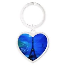 Dreams of Paris Heart Keychain