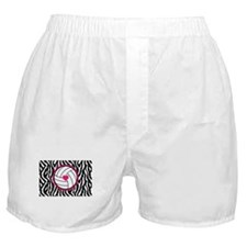 Volleyball -zebra print Boxer Shorts