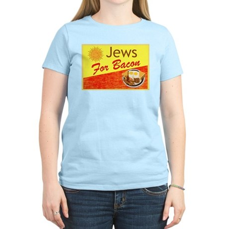 Jews For Bacon Women's Light T-Shirt