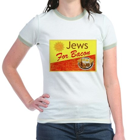 Jews For Bacon Jr. Ringer T-Shirt