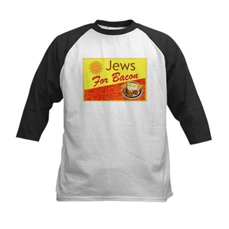 Jews For Bacon Kids Baseball Jersey