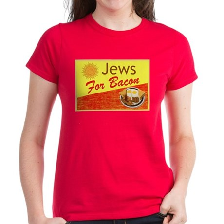 Jews For Bacon Women's Dark T-Shirt