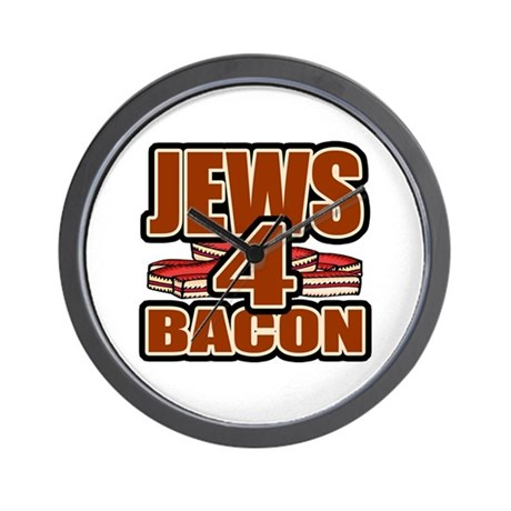 Jews For Bacon Wall Clock