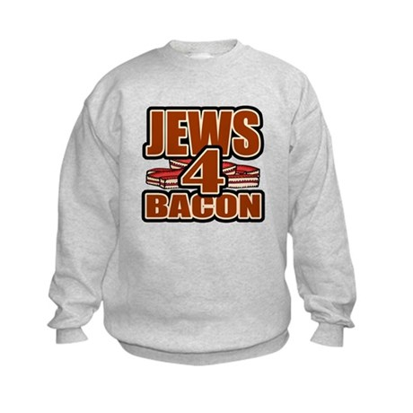 Jews For Bacon Kids Sweatshirt