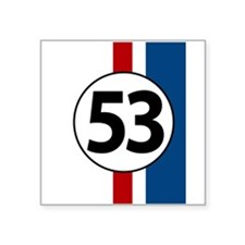 53 red and blue stripe Sticker