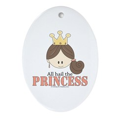 All Hail the Princess Oval Ornament