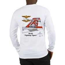 A-6 Intruder Va-65 Fighting Tiglong Sleeve T-Shirt