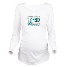 Ovarian Cancer Heave Long Sleeve Maternity T-Shirt