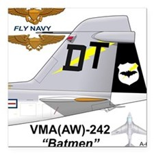 "Cute A 6 intruder Square Car Magnet 3"" x 3"""