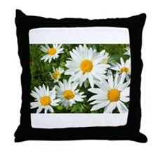 Summer daisies Throw Pillow