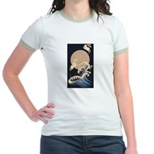 FULL MOON, WAVE, RABBITS T-Shirt