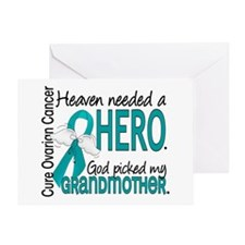 Ovarian Cancer Heaven Needed Hero 1. Greeting Card