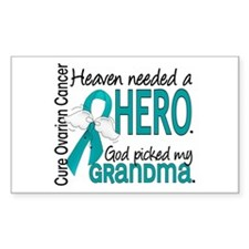 Ovarian Cancer Heaven Needed H Decal