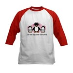 Big Sister of twins Kids Baseball Jersey - Penguin