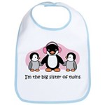 Big Sister of twins Bib  - Penguin