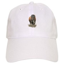 Watercolor Buffalo Bison Animal Art Hat