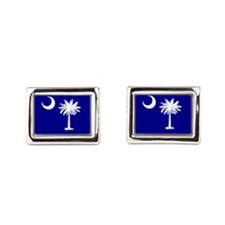 Palmetto Moon State Flag Cufflinks