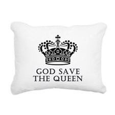God Save The Queen Rectangular Canvas Pillow