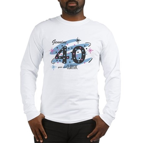 Classic 40 Confetti Long Sleeve T-Shirt