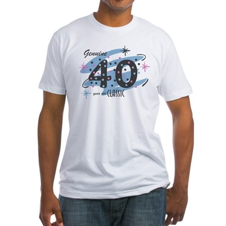 Classic 40 Confetti Fitted T-Shirt
