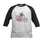 Big Sister of Twins (Kitty) Kids Baseball Jersey