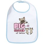 Big Sister of Twins (Kitty) Bib