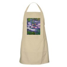 Claude Monet, pink and red waterlily, oil on Apron
