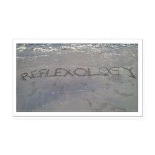 Reflexology in Black Sand Rectangle Car Magnet