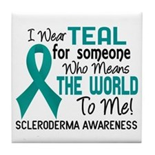 Scleroderma Means World To Me 2 Tile Coaster