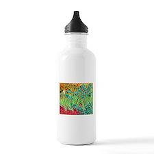 van gogh teal irises Water Bottle