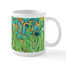 van gogh teal irises Mugs