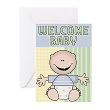 welcome baby boy card Greeting Cards (Pk of 10