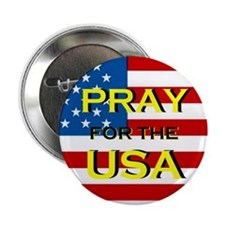 Pray for the USA Button