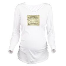 October 27th Long Sleeve Maternity T-Shirt