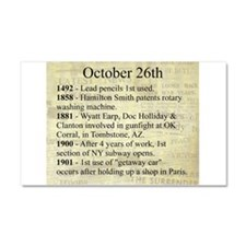 October 26th Car Magnet 20 x 12