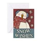 snow wishes Greeting Cards (Pk of 10)
