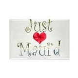 Just Maui'd Hibiscus Heart Rectangle Magnet (100 p